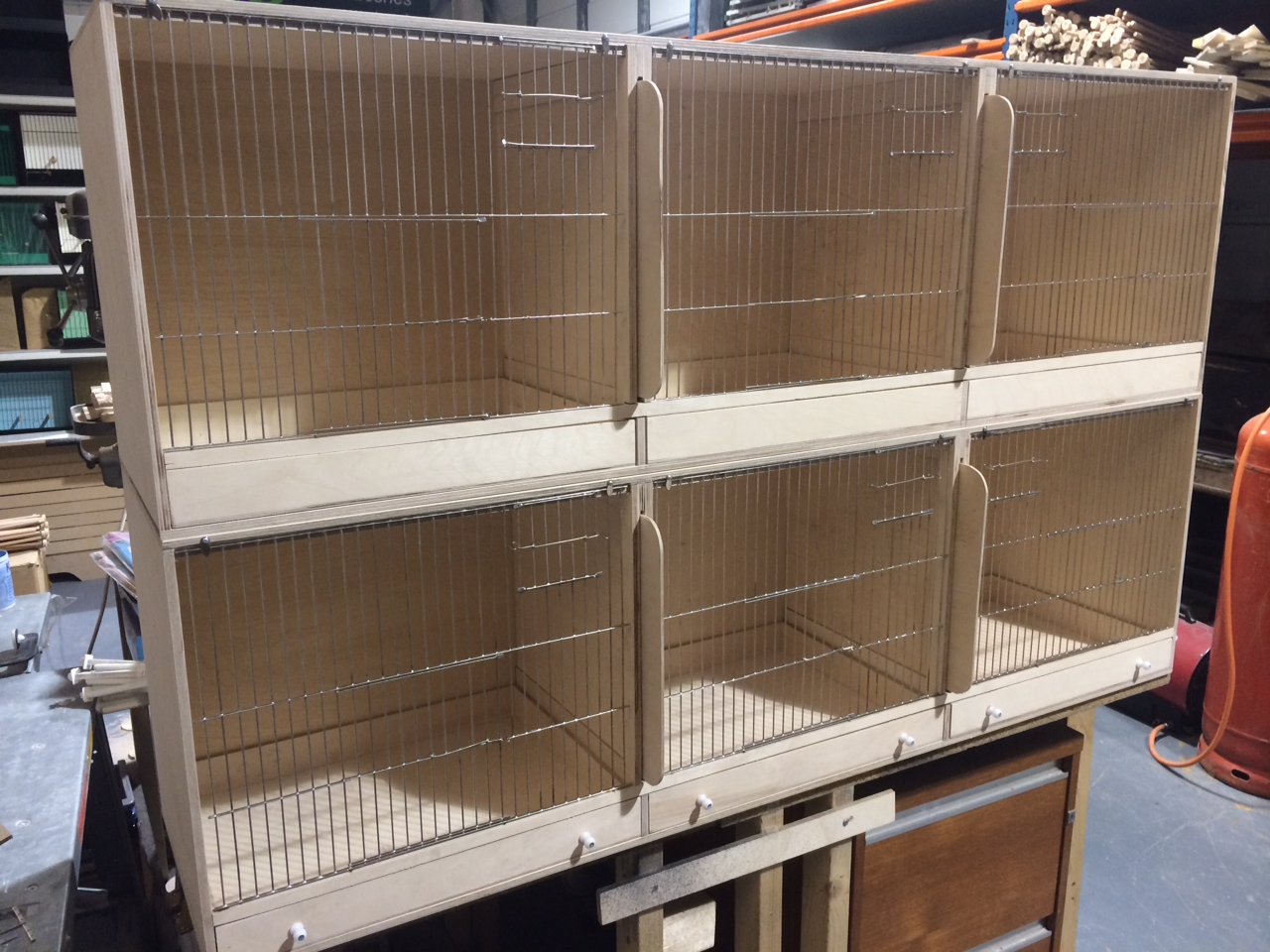 Birch Ply Breeding Cages